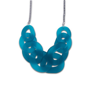 DECO FLEX O Link Necklace - Frosted Teal