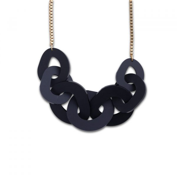 DECO FLEX O Link Necklace - Frosted Black