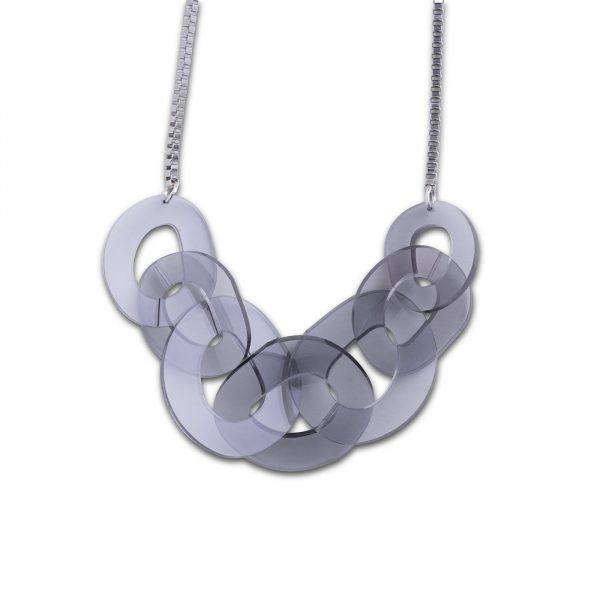 DECO FLEX O Link Necklace - Trans Grey