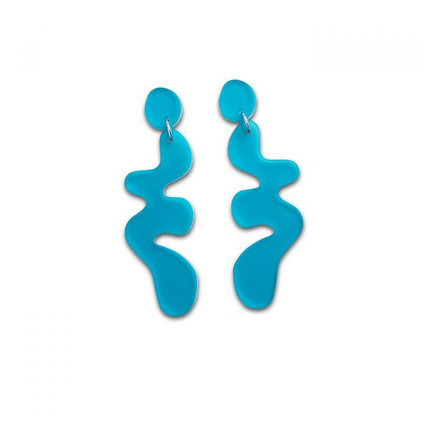 DECO FLEX Henri Drop Earrings - Frosted Teal