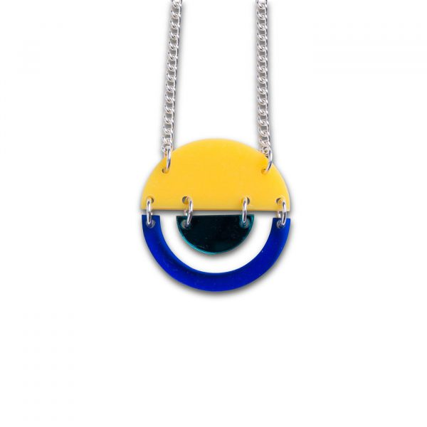 Stax Circle Pendant - Yellow