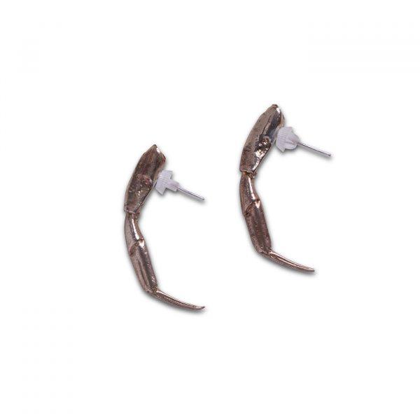 Crab Leg Earrings - Bronze