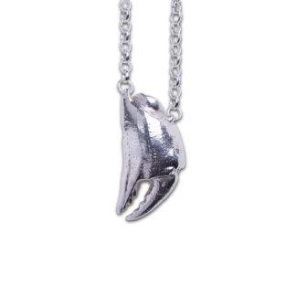Karkinos Crab Claw Pendant - Silver