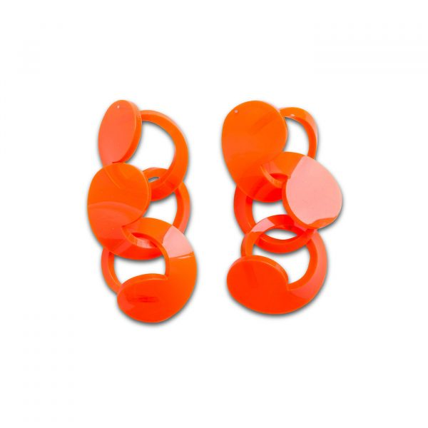 Spiral Drop Earrings Orange