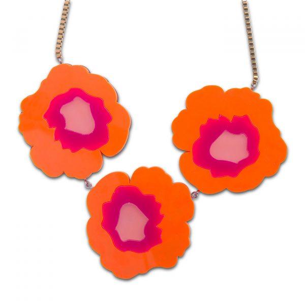 Wowie Zowie Necklace - Neon Orange