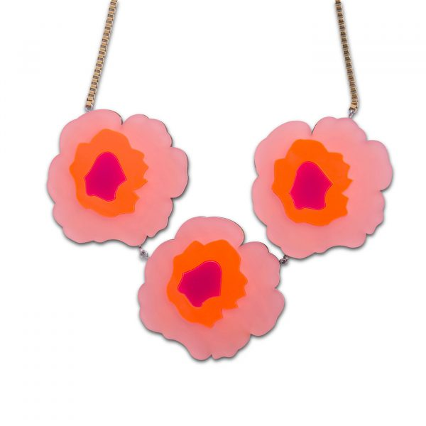 Wowie Zowie Necklace - Frosted Baby Pink