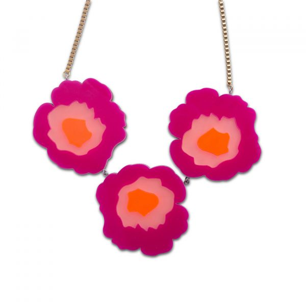 Wowie Zowie Necklace - Hot Pink