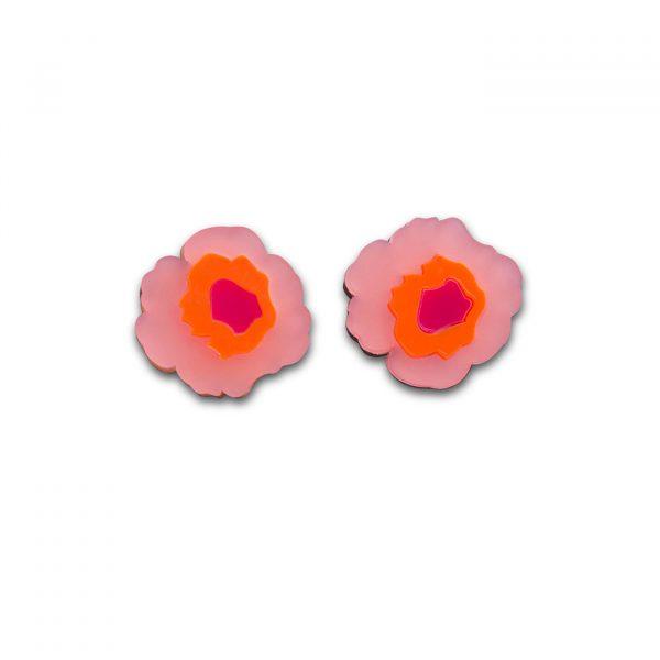 Wowie Zowie Stud Earrings - Frosted Baby Pink