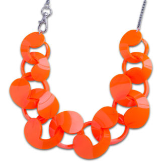 Oversize Spiral Necklace Orange
