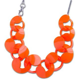 Oversize Spiral Necklace Orange