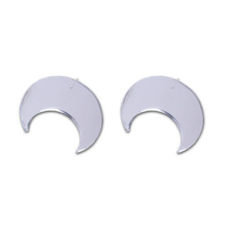 Oversize Moon Earrings