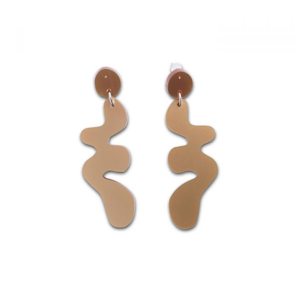 DECO FLEX Henri Drop Earrings - Gold Shimmer