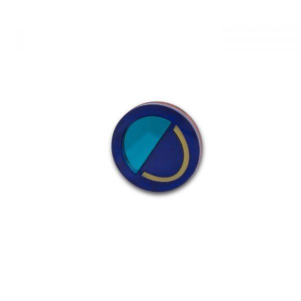 Smile Brooch - Blue