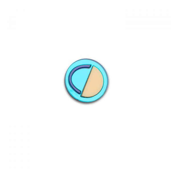 Smile Brooch - Turquoise
