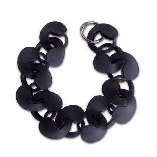Spiral Drop Bracelet Black