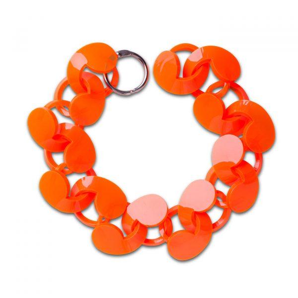 Spiral Drop Bracelet Orange