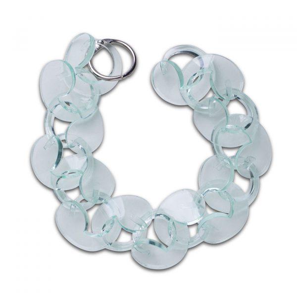 Spiral Drop Bracelet Trans Green