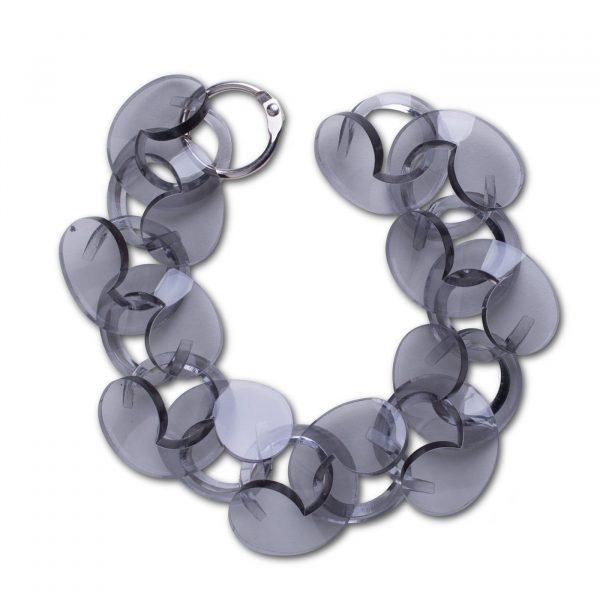 Spiral Drop Bracelet Trans Grey